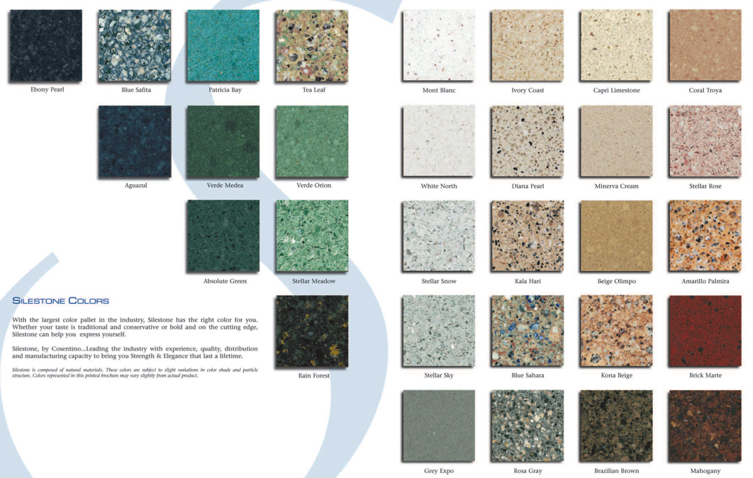SileStone Quartz Color Chart - big